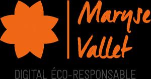 Logo Maryse Vallet, Digital Eco Responsable